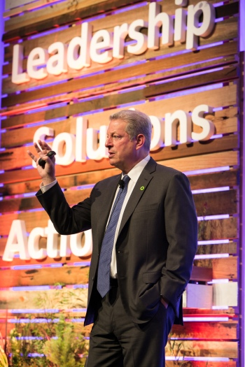 Nobel Laureate, Al Gore, Founder of the Climate Reality Project, at a Leadership training session in Melbourne, June 2014.