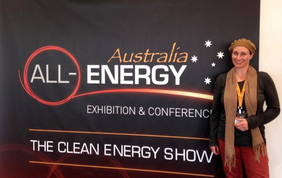 Learning about renewable energy technology, research and solutions at the recent 'Clean Energy Show' in Melbourne.