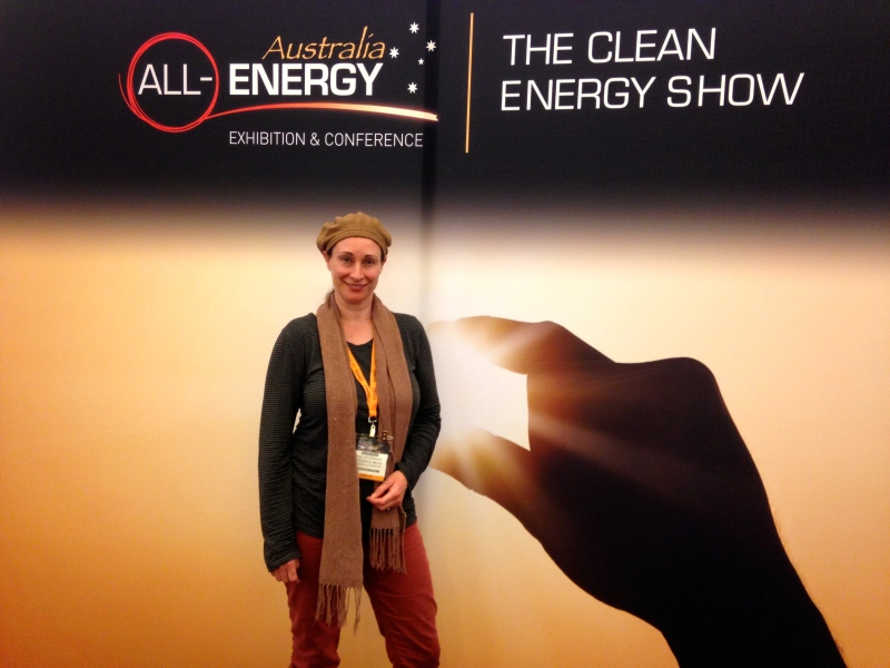 Putting myself in the picture at The Clean Energy Show in Melbourne.