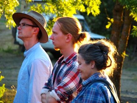 Keen observers - Alexander, Kilian and Irene.